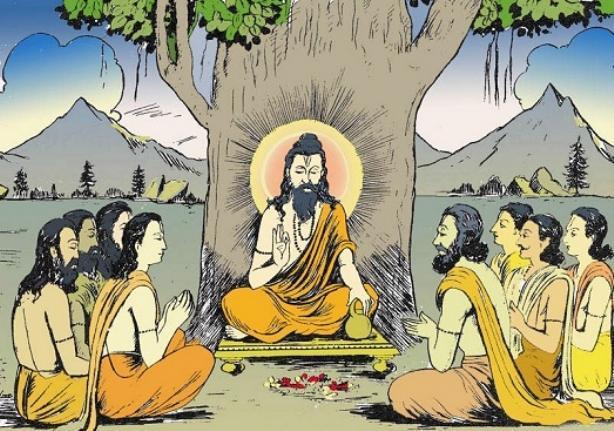 Древен мъдрец с учениците си | Ayurveda Clinic Bansko