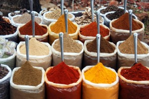 Separate types of spices