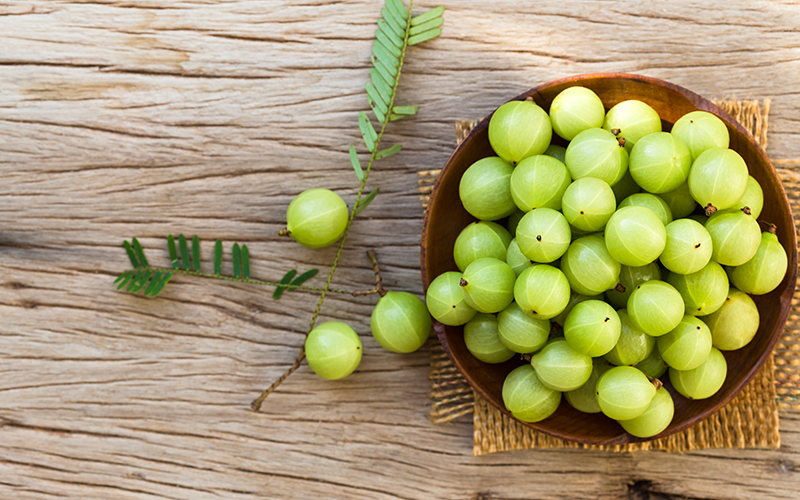 Amla fruit in hair loss