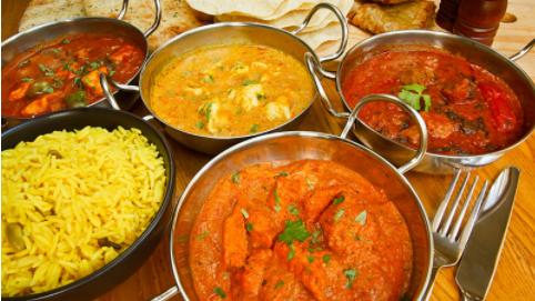 Traditionelle ayurvedische Gerichte aus Indien