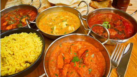 Traditional Ayurvedic dishes from India